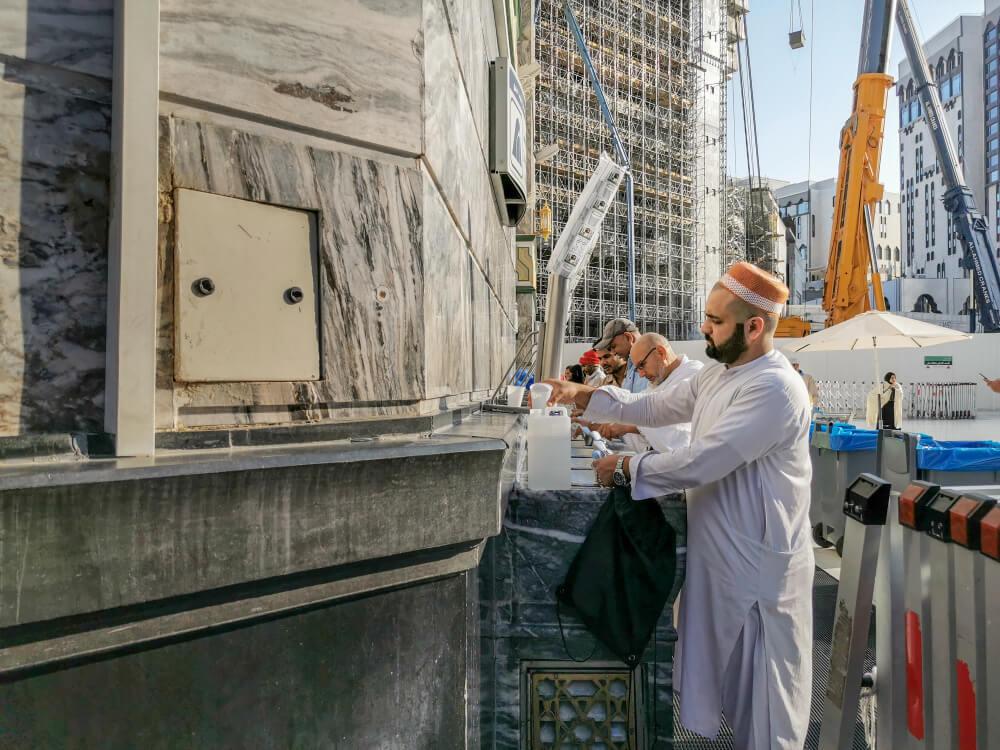 zamzam water haram mosque